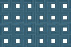 Progettazione simmetrica della base del centro bianco quadrato di legno dei blocchetti del fondo di astrazione rustica illustrazione di stock