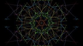 Progettazione simmetrica e variopinta Grafico di Digital fotografia stock libera da diritti