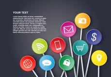 Progettazione sociale delle icone di media Fotografie Stock Libere da Diritti