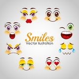 Progettazione sorridente dei fronti Fotografie Stock