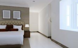 Progettazione spaziosa della camera da letto Fotografia Stock