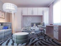 Progettazione spaziosa della camera da letto dell'adolescente Immagine Stock Libera da Diritti