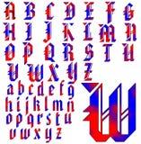 Progettazione speciale di alfabeto di ABC Illustrazione di Stock