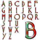 Progettazione speciale di alfabeto di ABC Fotografia Stock