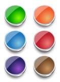 Progettazione stabilita del bottone del metallo di web di vettore EPS10 Immagini Stock Libere da Diritti