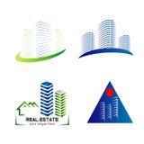 Progettazione stabilita del modello di logo dell'orizzonte Fotografia Stock Libera da Diritti