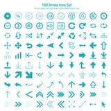 Progettazione stabilita dell'icona della freccia Immagine Stock Libera da Diritti
