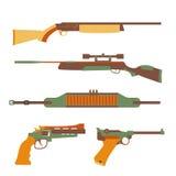 Progettazione stabilita delle armi da fuoco piana Immagini Stock Libere da Diritti
