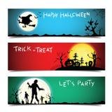 Progettazione stabilita delle insegne felici di Halloween royalty illustrazione gratis