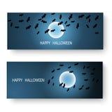 Progettazione stabilita di Halloween dell'insegna felice di giorno, illustrazione EPS10 di vettore royalty illustrazione gratis