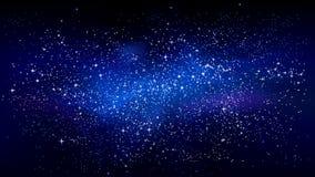 Progettazione stellata dello spazio cosmico illustrazione di stock