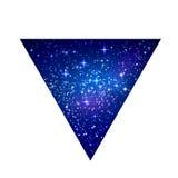 Progettazione stellata dello spazio cosmico illustrazione vettoriale