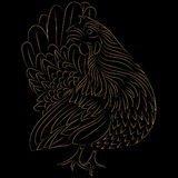 Progettazione stilizzata pollo Fotografia Stock Libera da Diritti