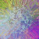 Progettazione strutturata astratta irregolare verde viola blu del fondo Fotografia Stock