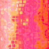 Progettazione strutturata astratta rosa arancione gialla del fondo con curv Immagini Stock