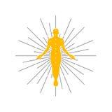 Progettazione su ordinazione di logo immagine stock