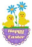 Progettazione sveglia dei pulcini di Pasqua Fotografia Stock Libera da Diritti