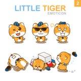 Progettazione sveglia dell'emoticon - Cat Set Immagine Stock