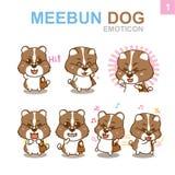 Progettazione sveglia dell'emoticon - insieme del cane Immagini Stock