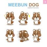 Progettazione sveglia dell'emoticon - insieme del cane Fotografia Stock