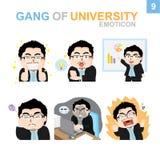 Progettazione sveglia dell'emoticon - uomo d'affari Set Immagine Stock Libera da Diritti