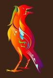 Progettazione tailandese di arte dell'uccello royalty illustrazione gratis