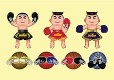 Progettazione tailandese di pugilato, illustrazione di vettore Immagini Stock Libere da Diritti