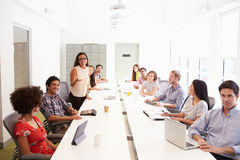 Progettazione Team Collaborating On Project Together Immagine Stock