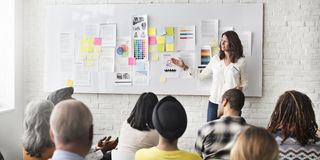 Progettazione Team Meeting Presentation Creative Concept fotografia stock