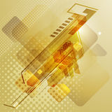 Progettazione techna astratta con le frecce Fotografia Stock