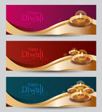 Progettazione Templat dell'insegna di Diwali di vettore Fotografie Stock Libere da Diritti
