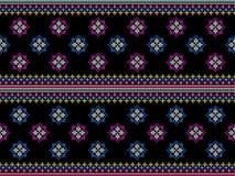 Progettazione tradizionale del modello orientale etnico geometrico del ikat per l'abbigliamento della carta da parati del tappeto fotografia stock libera da diritti