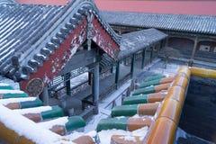 Progettazione tradizionale del tetto dell'Asia Immagini Stock