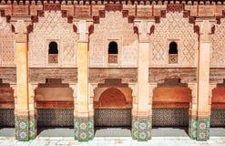 Progettazione tradizionale di architettura marocchina Moschea di Hassan II nel Ca Immagine Stock Libera da Diritti