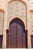 Progettazione tradizionale di architettura marocchina Moschea di Hassan II nel Ca Fotografie Stock Libere da Diritti