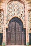 Progettazione tradizionale di architettura marocchina Moschea di Hassan II nel Ca Fotografia Stock Libera da Diritti