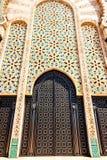 Progettazione tradizionale di architettura marocchina Moschea di Hassan II nel Ca Immagini Stock Libere da Diritti