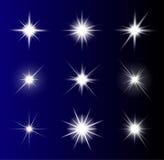 Progettazione trasparente dell'icona di simbolo di vettore della stella Bello illustrati illustrazione di stock