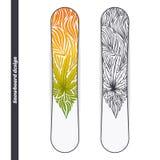 Progettazione tre dello snowboard Fotografia Stock Libera da Diritti