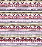 Progettazione tribale americana Fondo senza cuciture - modello tribale Acquerello dipinto a mano Fotografie Stock Libere da Diritti