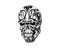 Progettazione tribale del tatuaggio del cranio Fotografia Stock Libera da Diritti