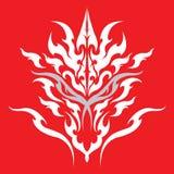 Progettazione tribale del tatuaggio del drago Fotografia Stock Libera da Diritti