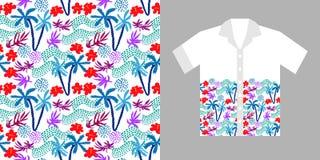 Progettazione tropicale della camicia Fotografia Stock Libera da Diritti