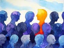 Progettazione umana luminosa differente della pittura dell'acquerello di contrasto royalty illustrazione gratis