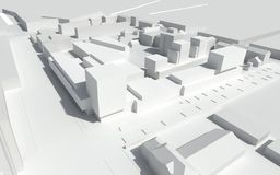 Progettazione urbana - case viventi moderne Immagine Stock
