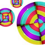 Progettazione variopinta astratta del fondo della curva dell'arcobaleno. Immagine Stock