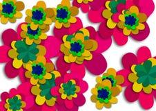 Progettazione variopinta astratta del fondo del fiore illustrazione di stock
