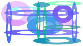 Progettazione variopinta dei cerchi delle dimensioni differenti royalty illustrazione gratis