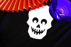 Progettazione variopinta del cranio Fotografie Stock Libere da Diritti