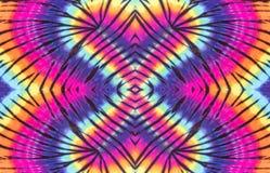 Progettazione variopinta del modello di spirale della tintura del legame fotografie stock